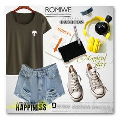 """""""Romwe contest"""" by tanja133 ❤ liked on Polyvore featuring Converse"""