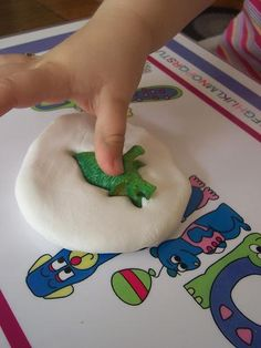 dinosaur fossils using Crayola model magic! We LOVE model magic at Cupcakes and Lace!