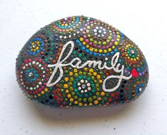Family+Typography+Hand+Painted+River+Rock