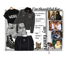 """""""I'm thankful for..."""" by iandcheshirecat ❤ liked on Polyvore featuring WithChic, MANGO, Carmar, Givenchy, Roxy, Friends With Benefits, family and thanksgiving"""