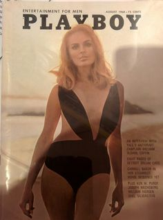 Vintage Playboy Magazine cover, one piece bathing suit, circa Carroll Baker, Vintage Playmates, Playboy Playmates, Looks Style, My Style, Mode Glamour, Shel Silverstein, Frases Humor, Farrah Fawcett