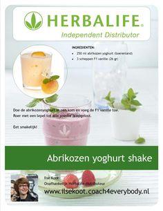 Heerlijk herbalife recept voor abrikozen yoghurt shake