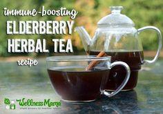 Immune-boosting elderberry tea - warm and comforting!