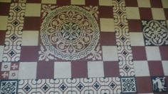 Vintage French tile floor