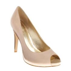 Bridesmaids: a simple example of nude peep toe pumps. amazing.
