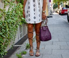 www.blonde-concept.com Ethno/Aztec Print by Zara, Bucket Bag by Asos, Lace Up Sandals by Mango #fashionblogger
