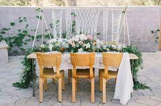woven backdrop tablescape