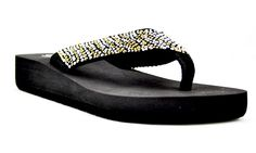 Step into Spring with our newest addition, 'DELIGHTFUL' These casual black thong sandals are the perfect addition to everyone's daily wardrobe, yet stylish enough to be dressed up! Coming soon in Metallic/Multi! http://www.graziefootwear.com/