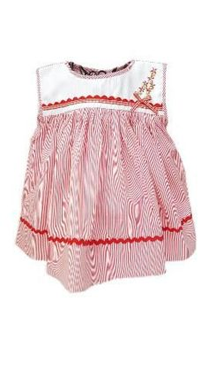 Classic little red striped baby girl dress with elegant hand-embroidered flowers cascading to a little red striped bow. Timeless and traditional ethical kids clothing. Nautical Summer Dresses, Red Stripes, Little Red, Embroidered Flowers, Boho Shorts, Kids Outfits, Girls Dresses, Elegant, Clothes