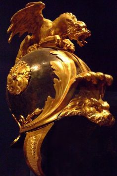 Helmet in the Classical Style Bronze silvered and blued gilt bronze silk and metallic yarn French Paris probably about 1760-70 (1) by mharrsch, via Flickr