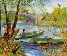 Vincent van Gogh: Fishing in the Spring, 1887. Style: Post-Impressionism