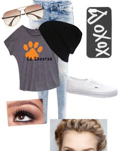 """Ed Sheeran concert with Zayn"" by jennagchance ❤ liked on Polyvore"