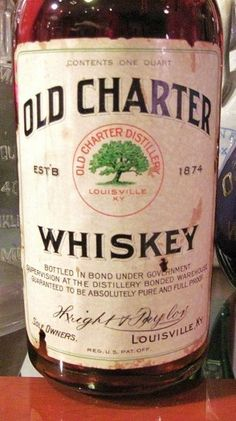 Pre-prohibition Old Charter Bottled In Bond Made 1914 Bottled 1918.