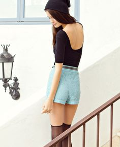 Forever 21 High Rise Lace Shorts