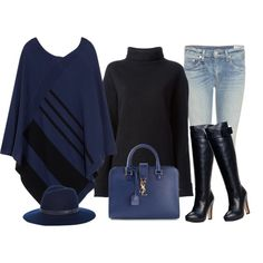"""""""Blue and black"""" by lenaick on Polyvore"""