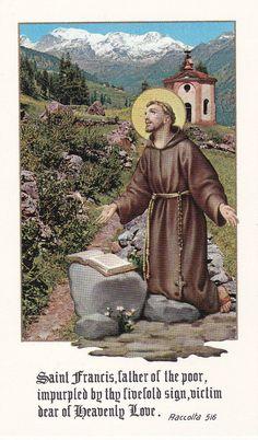 Two Holy Cards, Holy Family and Saint Francis Catholic Art, Catholic Saints, Roman Catholic, Patron Saints, Christian Images, Christian Art, St Francisco, St Francis Assisi, Clare Of Assisi
