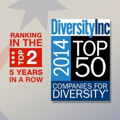 With a #2 ranking in 2014, Sodexo, a leading provider of sustainable, integrated facilities management and foodservice operations, is the only company to rank in the top two on DiveristyInc's Top 50 Companies for Diversity list, five consecutive years, making it a benchmark company for sustainable inclusive practices.