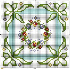 Biscornu Cross Stitch, Mini Cross Stitch, Cross Stitch Flowers, Cross Stitch Embroidery, Embroidery Patterns, Hand Embroidery, Cross Stitch Numbers, Cross Stitch Boards, Cross Stitch Designs