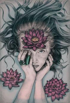 Liquid Flower by Sofia Azevedo, via Behance