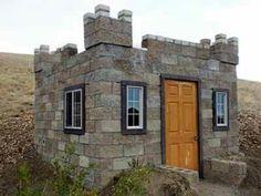 Tiny castle home.