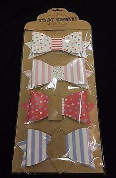 Meri Meri Paper Gift Bows (Set of 4) - Toot Sweet