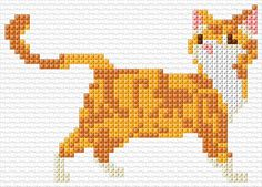 Good Images Cross Stitch cat Tips Considering For a nice and cross regular sewing considering that I'd been her I personally sometimes presum Small Cross Stitch, Cross Stitch Art, Cross Stitch Animals, Cross Stitch Designs, Cross Stitch Embroidery, Chicken Cross Stitch, Embroidery Ideas, Cross Stich Patterns Free, Cat Cross Stitches