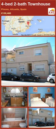 Townhouse for Sale in Pinoso, Alicante, Spain with 4 bedrooms, 2 bathrooms - A Spanish Life Murcia, Secondary School, Primary School, Outdoor Swimming Pool, Swimming Pools, Valencia, Portugal, Granite Worktops, Football Pitch