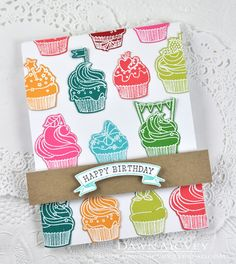 Happy Birthday Card by Dawn McVey for Papertrey Ink (January 2015)