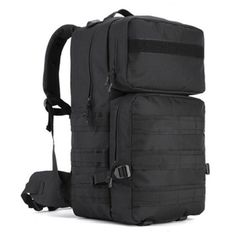 46.19$  Watch here - http://ali1vj.shopchina.info/go.php?t=32793697132 - 55L Men Military Backpack Women Casual Laptop Back Bag Large Capacity Male Travel Rucksack Nylon Black Army Backpack 2017  46.19$ #aliexpresschina