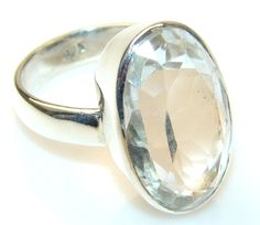 $48.50 Beautiful White Topaz Sterling Silver ring s. 9 at www.SilverRushStyle.com #ring #handmade #jewelry #silver #topaz
