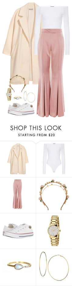 """""""These pants Outfit"""" by jordancomeau on Polyvore featuring H&M, ATM by Anthony Thomas Melillo, Topshop, Dolce&Gabbana, Converse, Gucci, La Kaiser, GUESS and pants"""