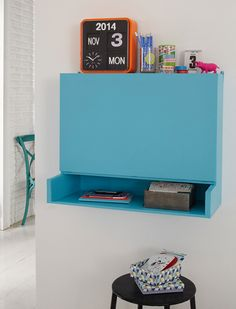 Drop-leaf desk for home office or child's study desk - The cabinet is made using 12mm MDF which you won't find at your local Builders, but can source from board and timber suppliers. Plus, you can still have everything cut to size to make assembly quick and easy. - See more at: http://www.home-dzine.co.za/diy/diy-dropleaf-desk.htm#sthash.36F1FE4C.dpuf