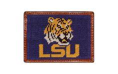 Louisiana State University Needlepoint Credit Card Wallet