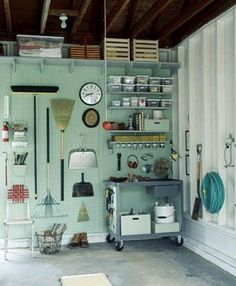 Laundries and mudrooms - mylusciouslife.com - Martha Stewart garage