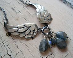 HOLD for Leopoldine silver wings necklace by ArtigianoJewelBox, $172.00