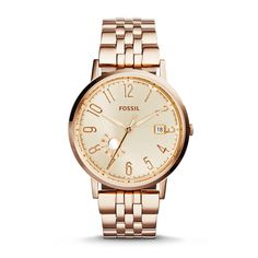 Vintage Muse Multifunction Rose-Tone Stainless Steel Watch