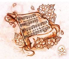 Sketch Music sheet by WillemXSM.deviantart.com on @deviantART...I love the idea of having the music and lyrics to a favorite and meaningful song:)