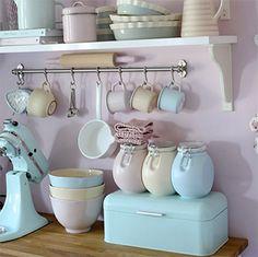 Decoração cozinha retrô Manuela Kjeilen