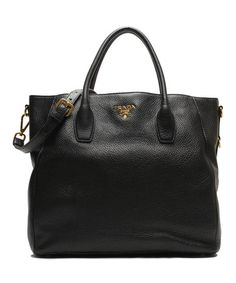 Love this Nero Leather Tote by Prada on #zulily! #zulilyfinds