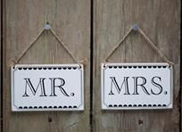 Www.happilyeverafter-gifts.co.uk  Mr and Mrs sign