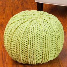 Olivia Pouf Ottoman Color: Green - http://delanico.com/ottomans/olivia-pouf-ottoman-color-green-588994807/