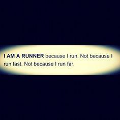 But because I run.