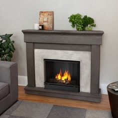Real Flame Cascade Cast Ventless Gel Fireplace - Dune Stone - 3420-DS
