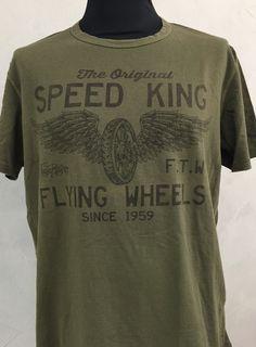 c3d882869595 Rude Riders T Shirt Speed King GR L Neu