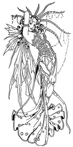 Enchanted Designs Fairy & Mermaid Blog: Free Fairy Coloring Pages by Marjolein Gulinski and more