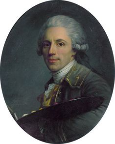 Antoine Vestier(1740-1824), Self Portrait 1785. A French artist who specialized in miniatures and portraits.