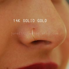 Gold Nose Hoop, Gold Nose Stud, Gold Nose Rings, Nose Piercing Ring, Tragus Piercings, Cartilage Earrings, Tiny Nose Studs, Silver Ear Cuff, Nose Jewelry