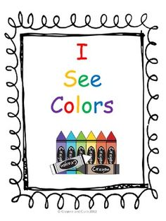 I See Colors Student and Teacher Book $3.00