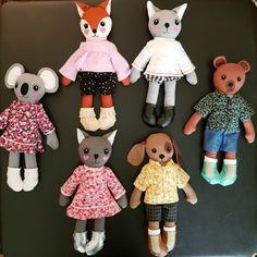 🦊🐱🐶🐨🐻 Happy animal dolls by Beccalalia. Visit etsy.com/shop/beccalalia 💖 . . . . . . . . #Beccalalia  #doll #clothdolls #dollmakers  #cute #clothdoll #fabricdoll #fabricdolls #handmadedoll #handmadedolls #handmadebusiness #handmadetoys #handmade #etsy #etsysellersofinstagram #etsyseller #makersbiz #makersmovement #creativelifehappylife #heirloomdoll  #handmade