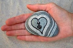 Valentine for Him / Painted Rock /Sandi Pike by LoveFromCapeCod, $35.00